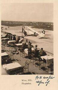 AK Flughafen Wien-Aspern mit Swiss Air Lines DC-2 um 1939