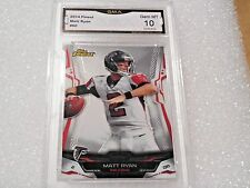 Matt Ryan GRADED CARD!! Gem Mint 10!! 2014 Topps Finest #60 Falcons MVP!!