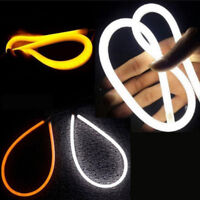 2x Flexible LED Auto Car Useful DRL Daytime Running Strip Light Soft Tube Lamps