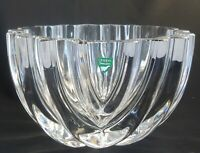 Orrefors Sweden Crystal Mid Century Art Glass Bowl Factory 2nd Not Signed