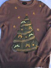 Alex Stevens Mens Ugly Christmas Pullover Knit Long Sleeve Logo Sweater Medium M