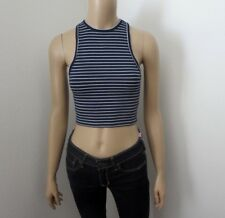 NWT Hollister Womens Ribbed High Neck Tank Top Size XS Striped
