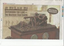 defending the line - the machine gun corps sculpture newspaper advert*