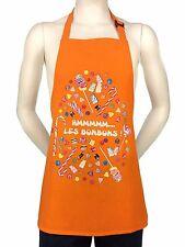 """Kids French Apron """"The Candies""""  Les Bonbons Orange 100% Cotton"""