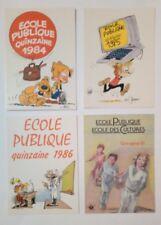 4 carte postale École publique Spirou Boule et Bill Roba Germain Jannin