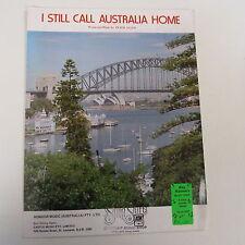 songsheet I STILL CALL AUSTRALIA HOME Peter Allen 1980