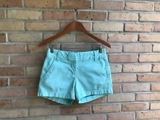 "J.Crew Womens Mint Green Chino 4"" Shorts - size 00 EUC FAST SHIP"
