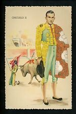 Embroidered clothing postcard Spain, Bull Fighter matador Chicuelo