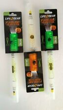 Life + Gear Halloween FLASHLIGHT &GLOW STICK EMERGENCY WHISTLE Pack of 3 NEW