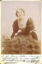 PHOTO GF DUCREUX ? DANSEUSE ? CHANTEUSE ? LANGLOIS PARIS DEDICACE CA 1880/ 1900