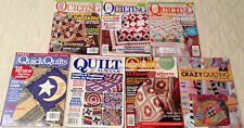 LOT 7 QUILT MAGAZINES, BOOK~AMERICAN PATCHWORK QUILTING, ALMANAC, CRAZY QUILTING