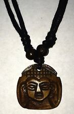 Carved Bone Buddha Pendant Adjustable Necklace Free Shipping in the USA!