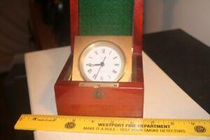 Vintage Tiffany Mahogany Desk Clock