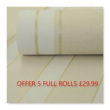 Offer- Job Lot 5 Rolls Modern Textured Stripe Wallpaper £29.99