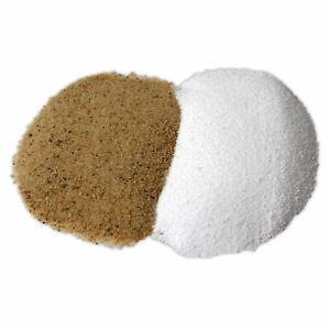20kg WHITE / BROWN AQUARIUM SILICA SAND TROPICAL FISH TANK DISCUS NATURAL WATER