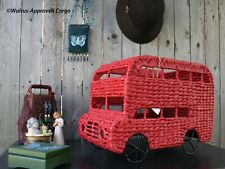 POTTERY BARN DOUBLE DECKER BUS STORAGE -NWT- BLIMEY GUV, HOP ON FOR COOL STORAGE