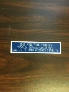 1949 NEW YORK YANKEES (WS CHAMPIONS) ENGRAVED NAMEPLATE FOR PHOTO/DISPLAY/POSTER