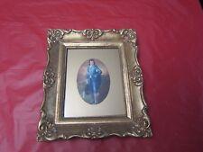 Vintage Picture Composite Ornate Gilt Frame 1960's W/Glass=BLUE BOY= #2=USA= NR