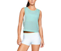 Under Armour Vanish Seamless Spacedye Muscle Tank, Blue, Size L