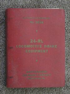 WABCO 24-RL Locomoitve Air Brake Instruction Pamphlet #5066 - 1950