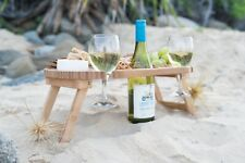 wine and cheese portable bamboo table/board new from Creative Lifestyles