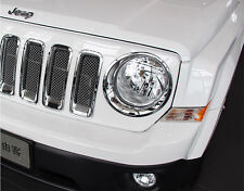 Accessories For Jeep Patriot 2011 - 2016 Front Headlight Lamp Cover Trim 2 Pcs