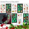 Luminous Tattoo Stickers Glitter Christmas Glow In The Dark Temporary Tattoos aa