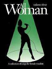 Partition pour voix - All Woman - Volume 3