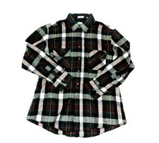 Northwest Territory flannel button down shirt mens size large plaid green black