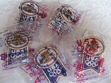 5 EARTHGRAINS 88 Olympic Summer Winter Games Pin NIP Hat Lapel Seoul Calgary