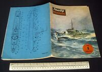 Vintage Maly Modelarz Poland 1980 #1 Card Cut-Out Model Book Polish Warship