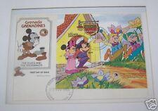 DISNEY MICKEY STAMP 1985 1ST GRENADA GRENADINES FRAMED