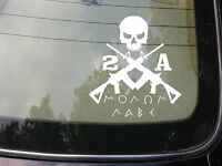 2A MOLON LABE STICKER AR DECAL COME AND TAKE IT 2ND AMENDMENT OBAMA TEA PARTY
