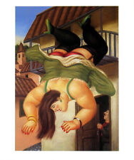 Over The Balcony by Fernando Botero Art Print Latin Poster 18x22