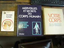 lot de 3 livres sur le corps humain