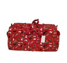 Vera Bradley Holiday Cats Large Travel Duffel Bag    Cats Meow Holiday 2021