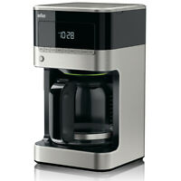 Braun BREWSENSE 12-Cup Black & Stainless Steel Coffee Maker KF7150BK