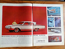 1964 Mercury Park Lane Ad 1963 Pan Am Airlines Ad