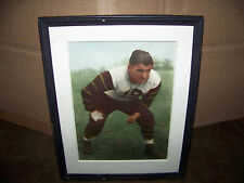 Vintage PHOTO Football Player Sports Portrait Picture Framed College? 1930's
