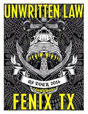 "Unwritten Law/Fenix Tx ""U.S. Tour 2016"" Concert Poster-Punk Revival, Post-grunge"