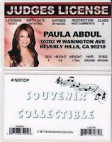 American Idol Judge PAULA ABDUL drivers License / I.D. id identification card