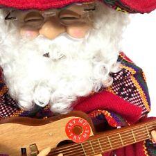 Christmas Sing Toy Santa Mexican Guitar Sombrero