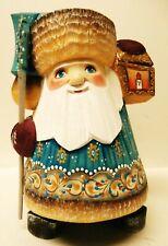 "Alkota Russian Genuine Wooden Collectible Santa ""Vladimir Arseneyev�, 9""�H"