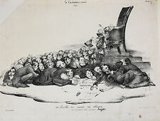 Honore Daumier (France 1808-1879) Lithograph Initialed H.D. très humbles