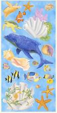 Wallpaper Mural Under The Sea Life Accent Pieces Cutouts Dolphin Fish Seashells