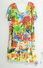 Jams World Womens Montpellier Hattie Short Sleeve Rayon Dress W329 Sz L- NWT