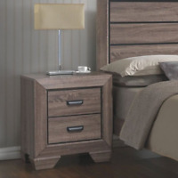 Contemporary Nightstand w/ 2-Drawers Wooden Bedside Accent Table Storage Display