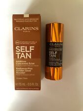 Clarins Self Tanning- Radiance-Plus Golden Glow Booster- FACE- 15ML- BOXED