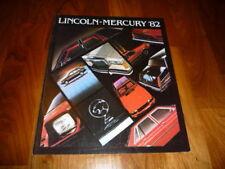 Lincoln Gesamt Prospekt 1982 Amerika Lincoln Continental / Mark VII / Town Car