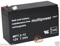 1 x Multipower Bleigel Akku 12V / 7,2Ah MP7.2-12  / LC-R127R2PG
